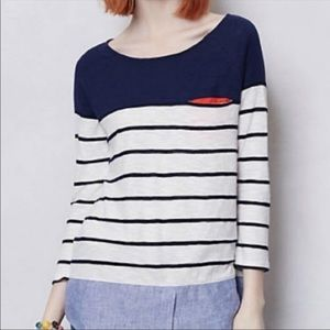 Anthropologie Poshmark Navy And White Striped Top
